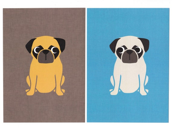 Pug Graphic Dog Print