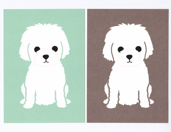 Little White Dog Graphic Print