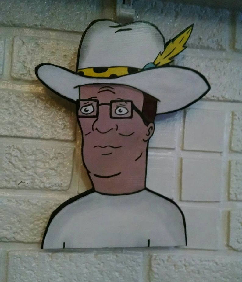 11 hand painted Hank Hill pimp hat wall hanging  d3898a44b53