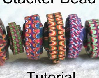 Polymer Clay Bead Tutorial - Stacker Bead DIY Bead Making PDF Tutorial
