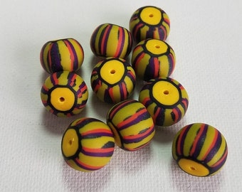 Boho Small Batch Handmade Polymer Clay Bead Strand - Matching Artisan Beads