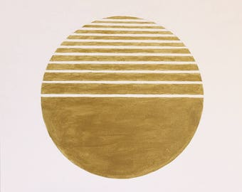 Original Metallic Gold Geometric Art