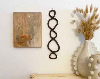 Ceramic Wall Hanging - Black Cairn