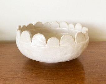 Scallop Bowl - White