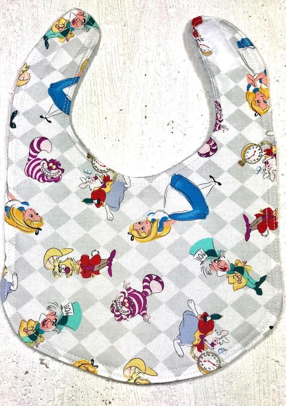 a637ddcb1807 Disney Alice in Wonderland Baby Bib infant bib dribble bib