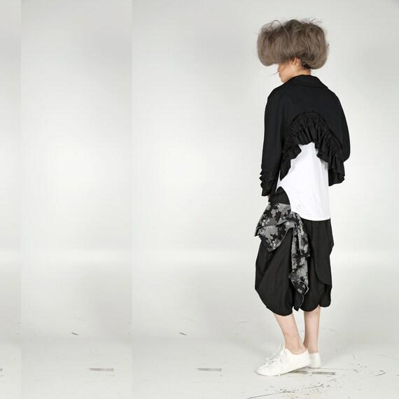Jacket - Asymmetric Length with Ruffles - image 2