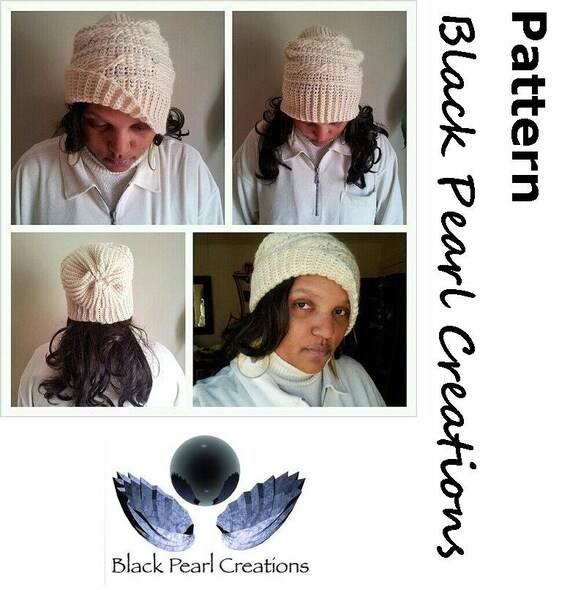 Crochet Hat Pattern Crochet Cables Womens Hat Slouchy Hat  6b58f1225c