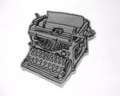 Gray Typewriter patch - iron on patch - embroidered patch - patch - patches - jeans patch - vintage typewriter - typewriter applique