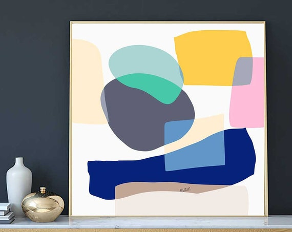 Printable Art, Blocks Colors, Abstract Large Art, Instant Download, Modern Print, Digital Painting, Art Print Abstract Art, RegiaArt