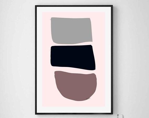 Printable Art Abstract, Neutral Colors, Scandinavian Modern, Art Print, Home Decor, Wall Art, Contemporary Print, Download, 24x36, RegiaArt