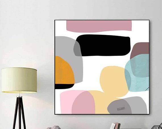 Mid Century Modern Art, Large Abstract Art, Large Wall Art, Printable Art, Modern Art Print, Living Room Art, Home Decor, Download RegiaArt