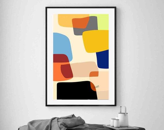 Wall Decor Colorful Printable Art, Joyful Wall Art, Large Abstract Art, 24x36 Modern Art Print, Living Room Decor, RegiaArt