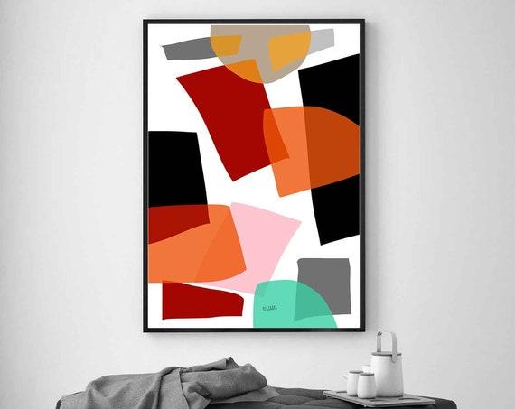 Colorful Printable Art, Abstract Large Art, Instant Download, Modern Print, Digital Painting, Wall Art, Oversize Art, RegiaArt