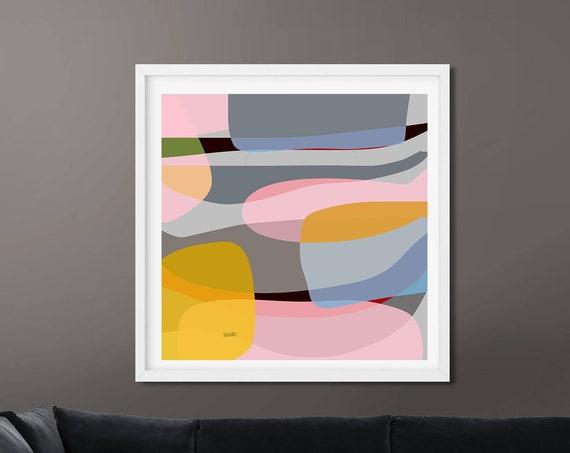 Printable Art, Abstract Modern, Colorful Painting, Modern Decor, Modern Minimalist, Digital Art, Digital Download, Large Poster