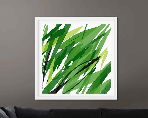Printable Art, Green Nature Abstract Large Art, Instant Download, Modern Print Digital Painting Wall Art Print Abstract, Home Decor RegiaArt