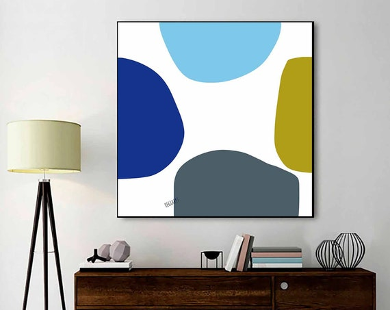 Printable Art, Wall Print Abstract, Scandinavian Modern, Mid Century Wall Art, Modern Decor, Oversize Wall Art, Instant Download 30x30