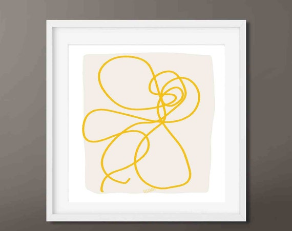 Large Abstract Painting, Large Wall Art, Printable Abstract Art, Line Art, Gold Abstract Wall Art, Art to Download 30x30, RegiaArt