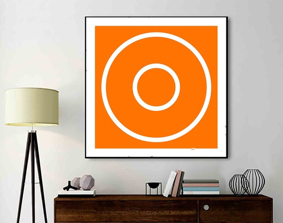 Wall Decor Printable Abstract Art, Square Digital Painting, Instant Download, Home Decor, Orange Wall Art, Art Print, Vivid Modern RegiaArt