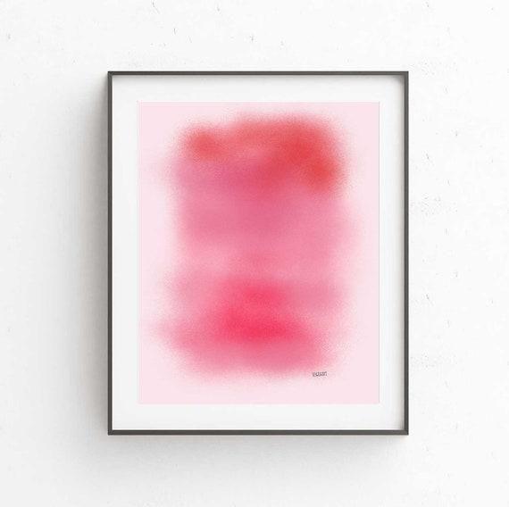 Printable Abstract Art, Scandinavian Modern, Pink Abstract Art Print, Modern Decor, Monochromatic Art, Digital Download
