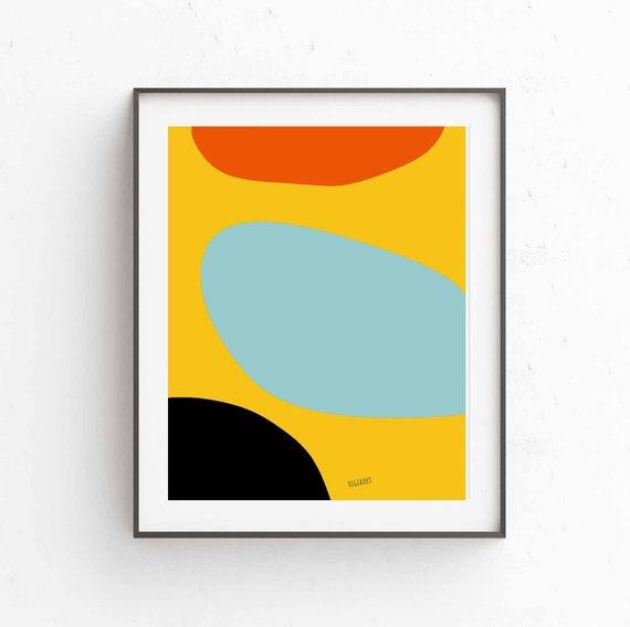 Printable Art, Colorful Abstract, Scandinavian Modern, Abstract Large Wall Art Print, Modern Decor, Oversize Wall Art, Digital Download