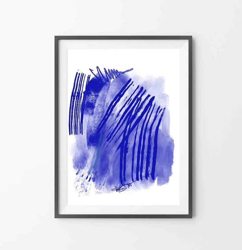 Printable Abstract Art Home Decoration Wall Art to Download Modern Painting RegiaArt White Blue Art Scandinavian Art Minimalist Print