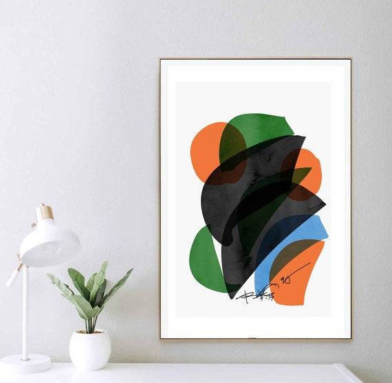 Digital Art Download, Abstract Print, Modern Art Print, Mid Century Art Print, Modern Abstract Art, Contemporary Art, Colors Art, RegiaArt