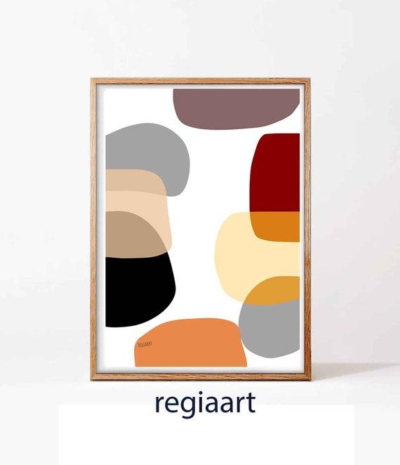 Printable Abstract Art, Large Art, Mid Century Modern, Bauhaus, Mid Century Art, Art Print, Contemporary Art, Abstract Art, RegiaArt
