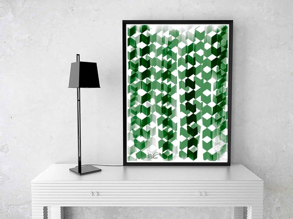 Printable Art, Wall Decor Abstract Green Painting, Instant Download, Modern Art Print, Wall Art, Design, Home Decor Art, RegiaArt, 24x30 Art
