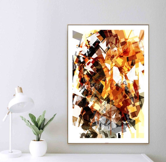 Printable Art, Abstract Geometric Art, Digital Drawing, Abstract Print, Instant Download, Interior Decor, Large Wall Art, Modern RegiaArt