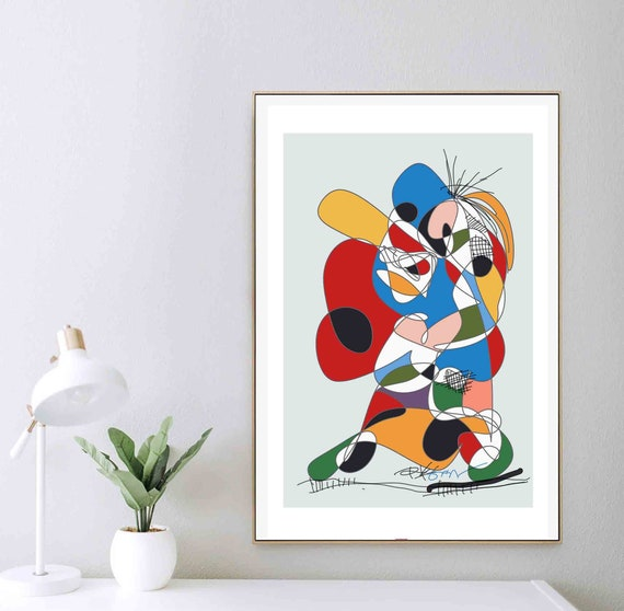 Printable Abstract Wall Art, Kids Room Art, Colorful Organic, Instant Download, Empowers Ideas, Art Contemporary Home Decor RegiaArt