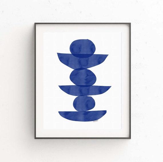 Printable Abstract Art, Scandinavian Modern, Minimalist, Abstract Wall Art Print, Modern Decor, Monochromatic Art, Digital Download