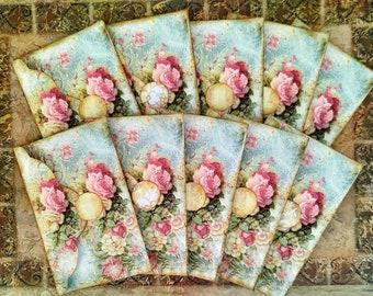 Set of 10 Handmade Shabby Chic Victorian Old World Envelopes