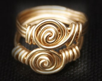 Gold Rossette Ring