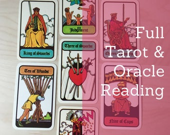 Full Tarot and Oracle Reading – Email or Video Recorded