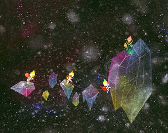 Crystal Climbers Limited Edition Print