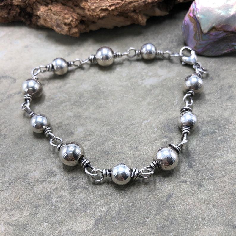 Mantra Sterling Silver Bracelet