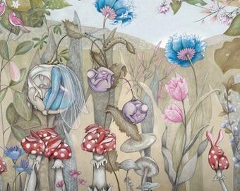 Netsuke Dreams Illustration Print