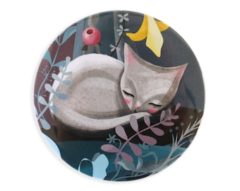 Sleeping Cat Pocket Mirror