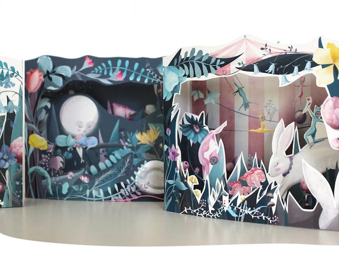 Featured listing image: Cat Moon Diorama Book - 3 DIY DIORAMA KITS