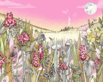 Amanita Netsuke Illustration Print