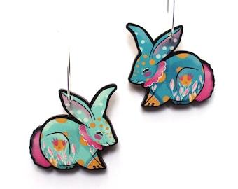 Circus Bunny Earrings