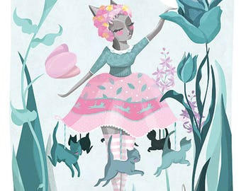 Carousel Clara Illustration Print