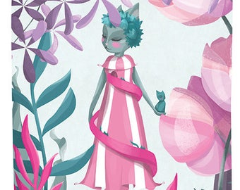 Helter Skelter Helga - Illustration Print