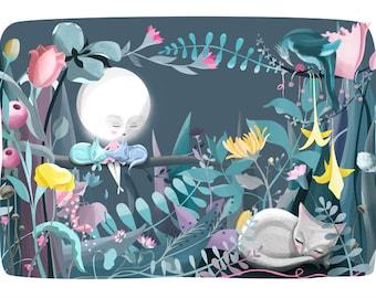 Moon Cats Illustration Print