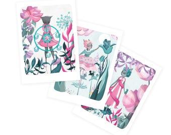 Fairground Felines Cards