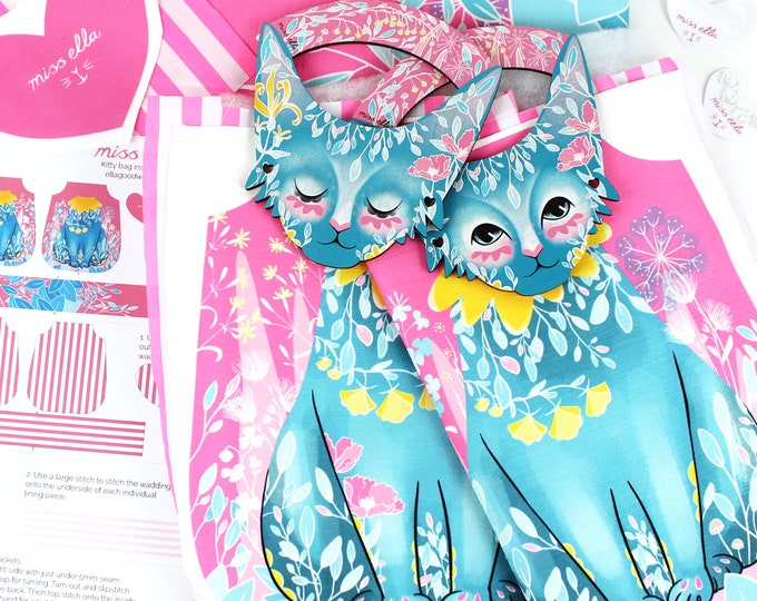 Featured listing image: DIY Kitty Bag - Super cute DIY Sewing kit for cat ladies and craft lovers