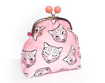 Pink Leopard Jumbo Bobble Purse