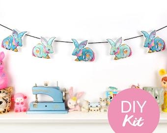 DIY KIT - Circus Bunny Bunting