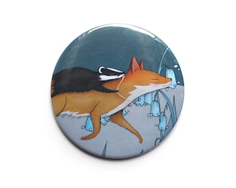 Fox Badger Pocket Mirror