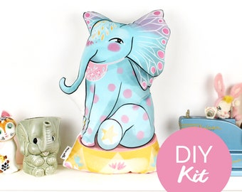 DIY KIT - Elephant cushion